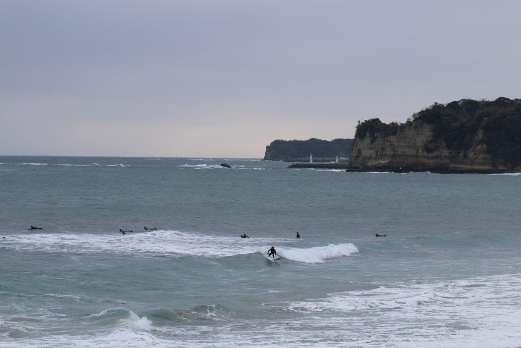 冬の御宿町中央海水浴場