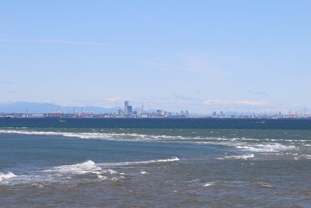 富津岬の潮目