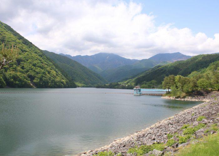 広瀬湖全景
