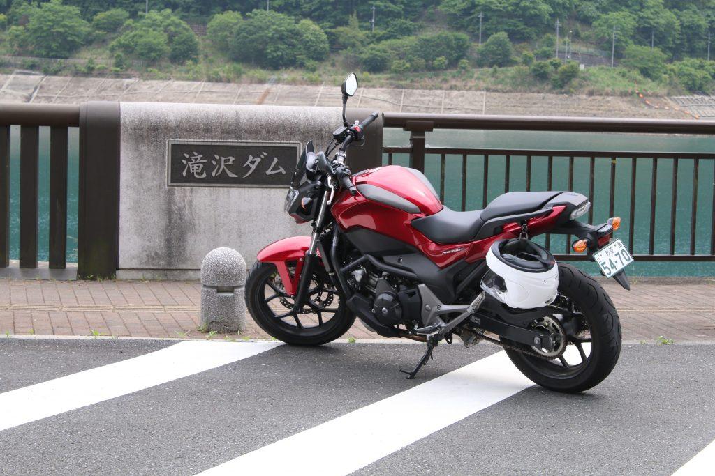 滝沢ダムでNC750S
