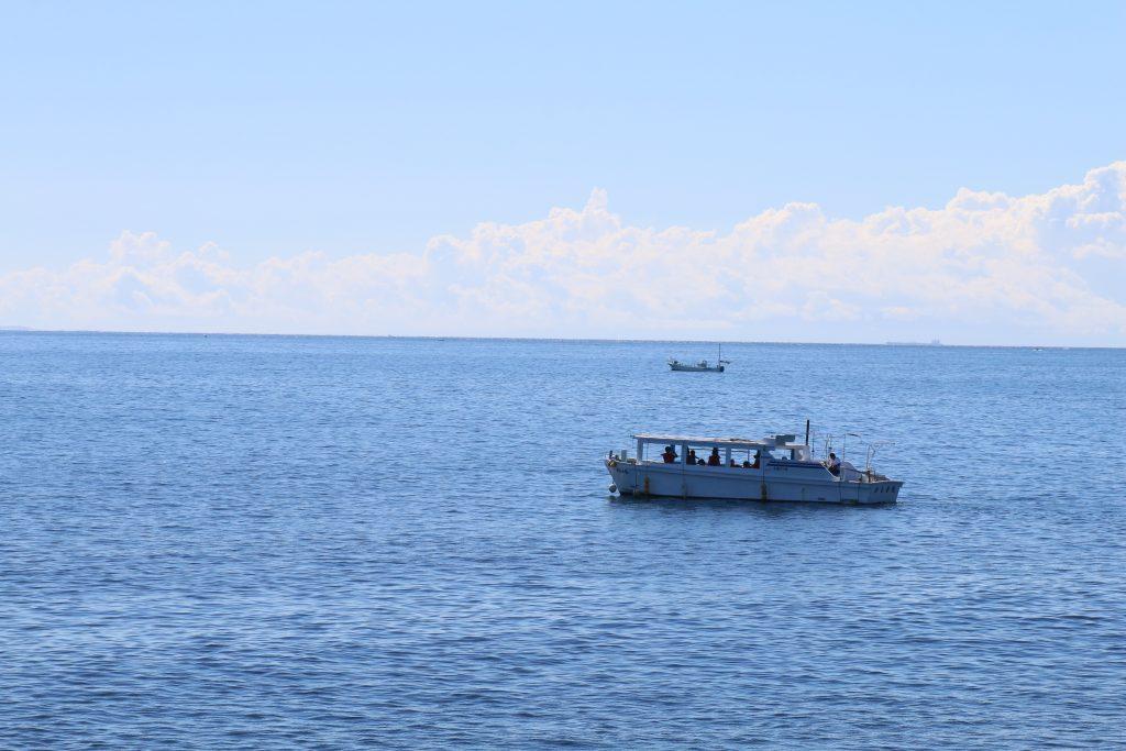 野島崎の海底透視船(かもめ丸)