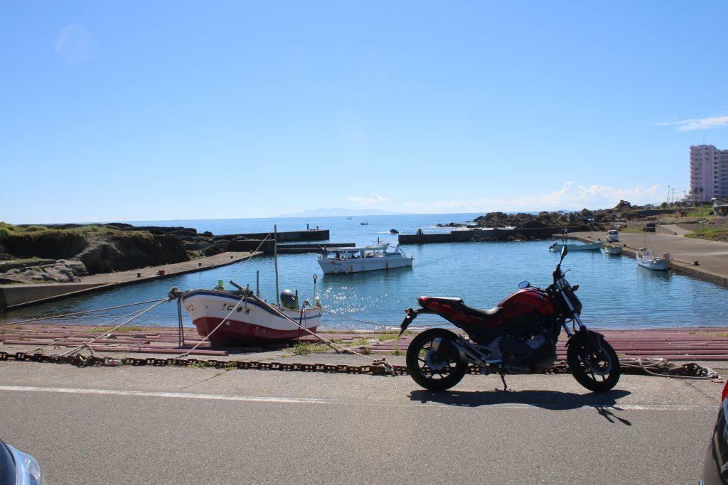 野島崎の風景とNC750S
