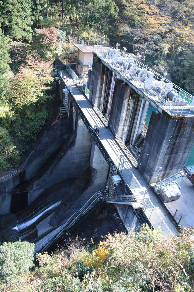 白丸調整池ダムの堤体(2020年11月)