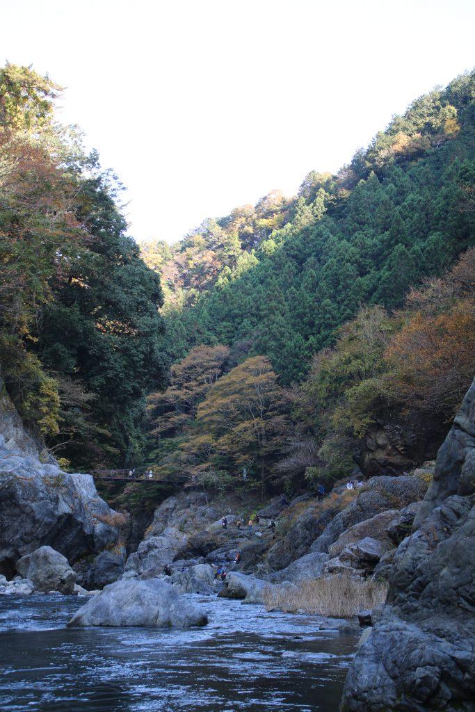 鳩ノ巣渓谷の雲仙橋(2020年11月)