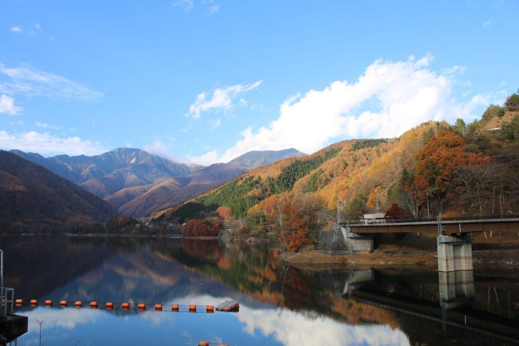 広瀬ダムの絶景(2020年11月)