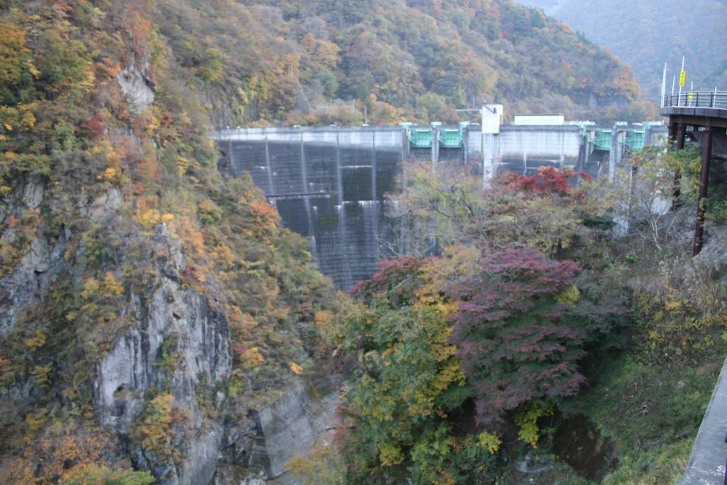 二瀬ダムの色の競演(2020年11月)