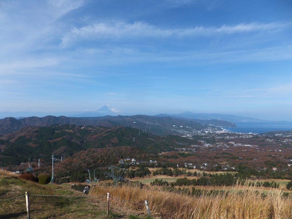 大室山から富士山方向を望む(2020年12月)