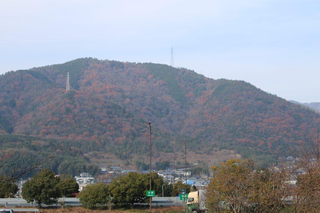 吉野川PAから見る一部紅葉(2020年12月)