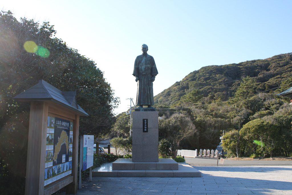中岡万次郎の銅像(2020年12月)