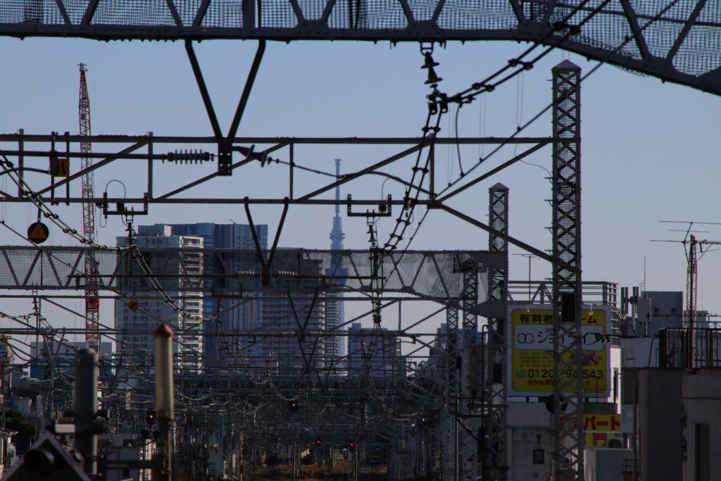 某駅からスカイツリー(2021年1月)