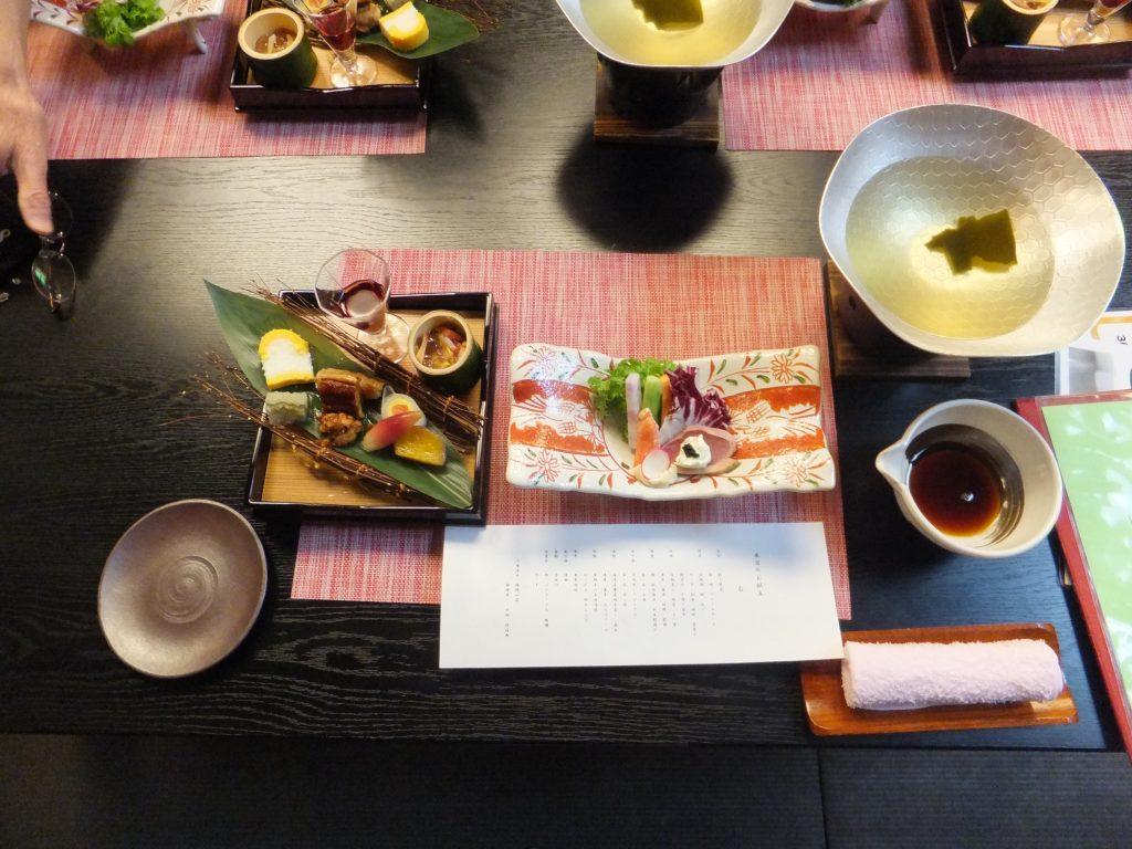 錦綉山荘の夕食ー先付と前菜(2021年2月)
