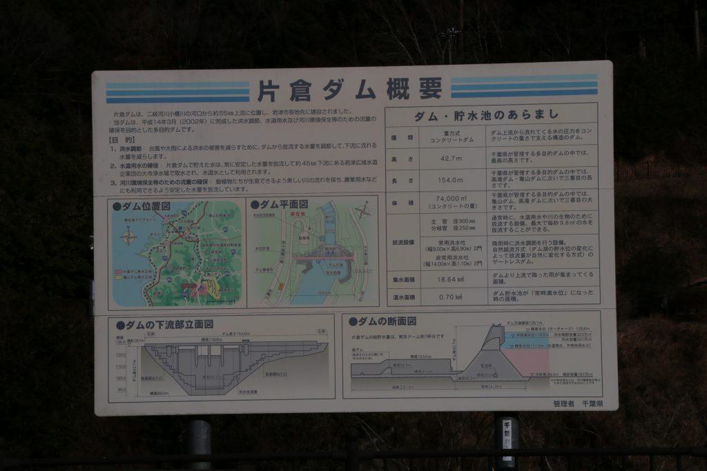 片倉ダムの諸元(2021年2月)