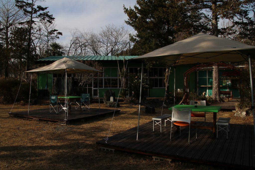 猟師工房の食事スペース(2021年2月)