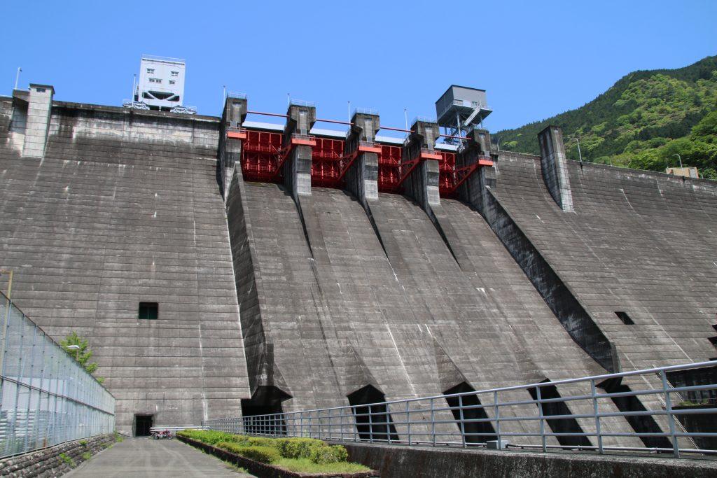 大渡ダム直下にNC750S(2021年5月)