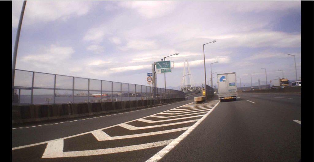 名港西大橋と飛島ICの表示(2021年4月)