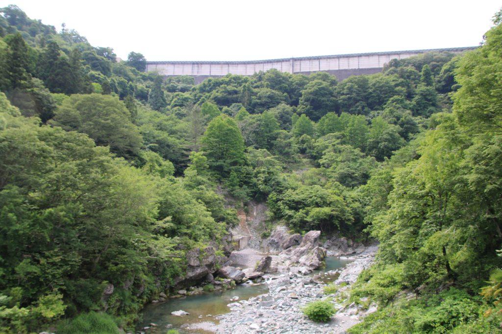 下久保ダムを三波石峡から望む(2021年5月)