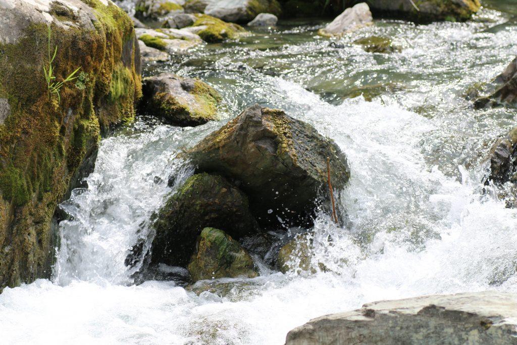 山波石峡の流れ(2021年5月)