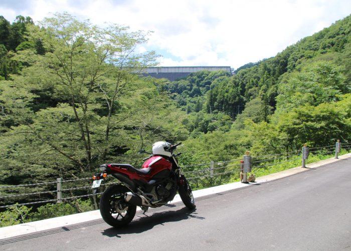下久保ダムを三波石峡から望む(2021年6月)